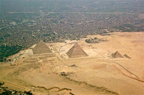 Le plateau de Gizeh vu d'en haut. (Robster1983 / CC0)