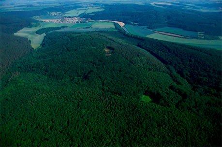La colline de Mittelberg, où le Nebra Sky Disc aurait été trouvé. Crédit photo : LDA Sachsen-Anhalt