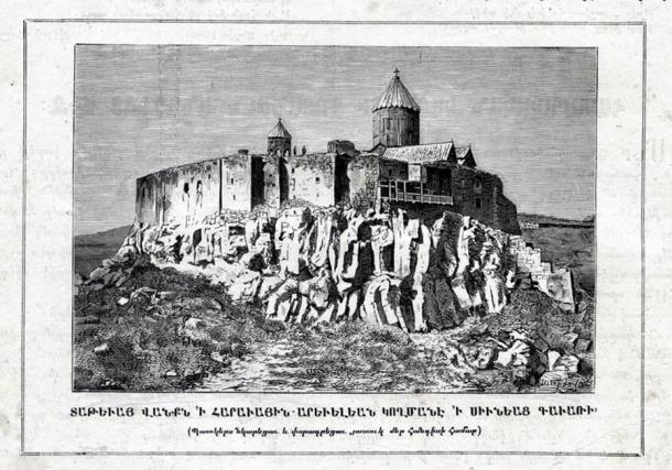 Image du monastère de Tatev de 1881. (Paros Hayastani / Domaine public)