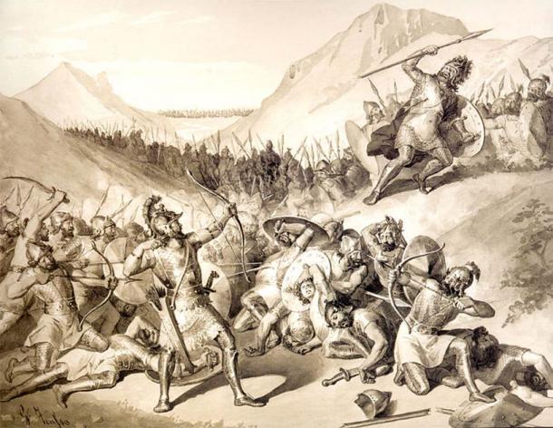 Hayk le Grand, le légendaire fondateur de la nation arménienne, qui a vaincu le tyrannique Bel de Babylone. (Juliano Zasso / Domaine public)