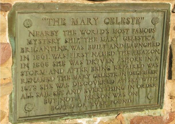 Un mémorial à l'équipage du Mary Celeste, qui a disparu sans laisser de traces