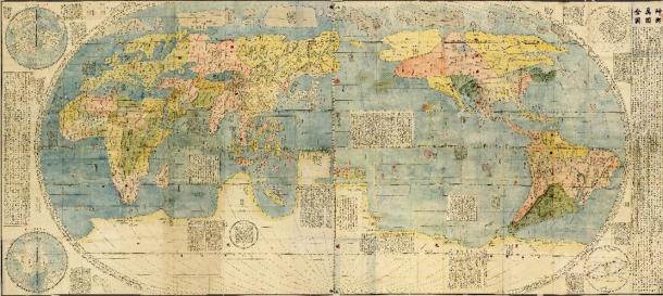 Kunyu Wanguo Quantu. Carte du monde chinoise, vers 1430
