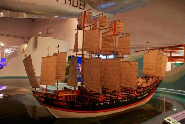 Zheng Il est le navire au trésor. Maquette au Musée des sciences de Hong Kong