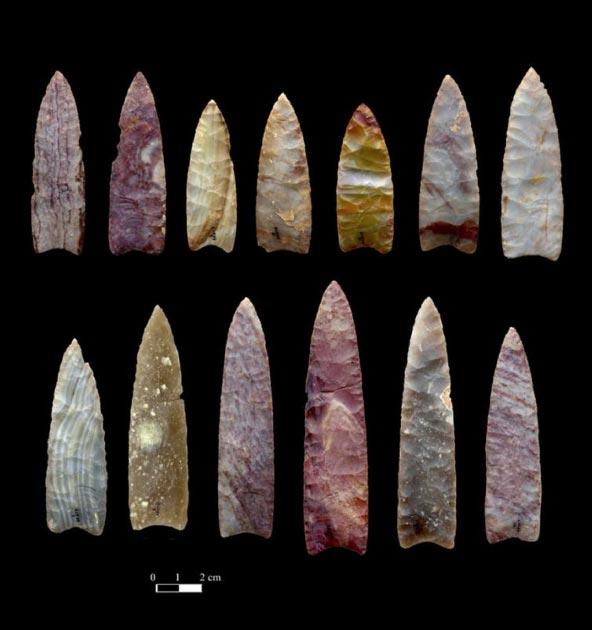 Des pointes de lance de 13 000 ans du Colorado. Chip Clark, Smithsonian Institution (auteur fourni)