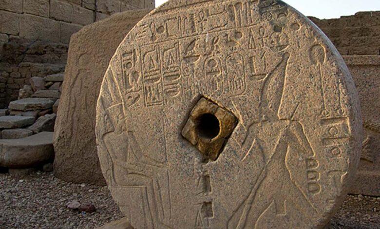 Grinding stone, Dendera Temple, Egypt.