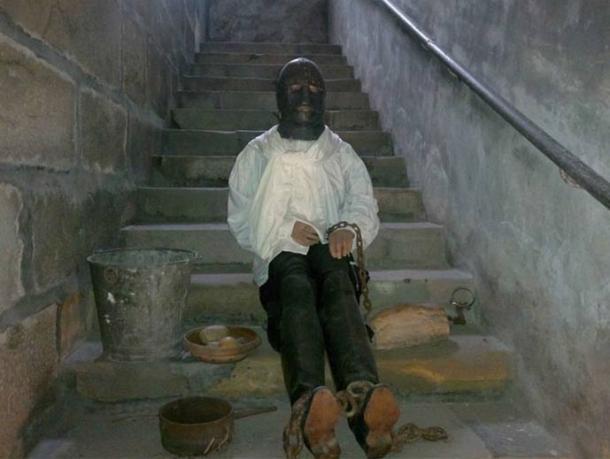 Reconstitution du modèle de l'homme au masque de fer, château de Vaux-le-Vicomte