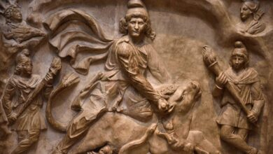 Mithra slaying the bull.
