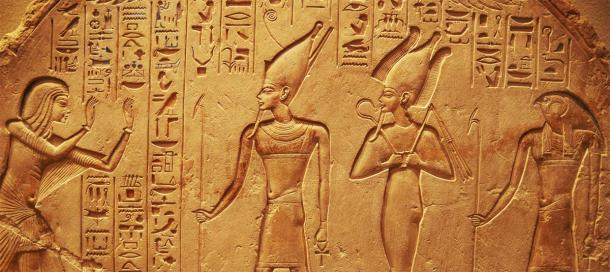Sculptures hiéroglyphiques égyptiennes anciennes. (mikolajn / Adobe stock)