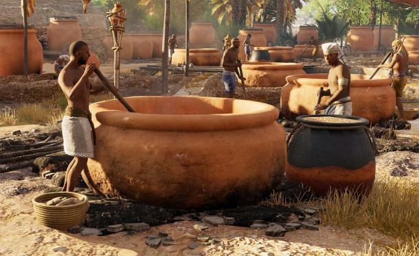Représentation des anciens Egyptiens qui brassaient de la bière. (Mary Harrsch / CC BY-NC-SA 2.0)