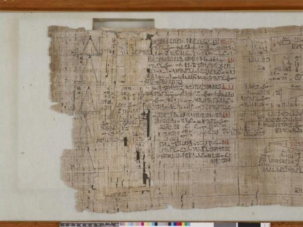 Le papyrus mathématique Rhind. (The British Museum / CC BY-NC-SA 4.0)