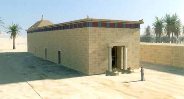 Reconstruction du monument de l'oasis de Siwa où Alexandre le Grand s'est rendu. (Liana Souvaltzi)