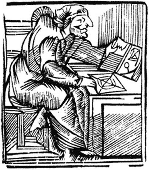 Gravure ancienne de la mère Shipton.