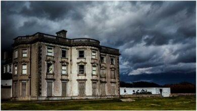 The eerie mansion that is today known as Loftus Hall.