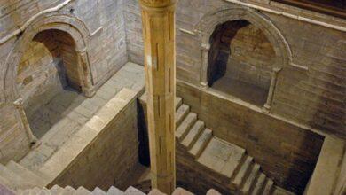 The inside of measuring shaft of the Roda nilometer. (Baldiri / CC BY-SA 3.0)