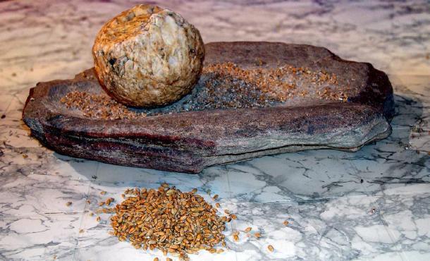 Pierres de mouture du néolithique utilisées pour moudre les grains. (José-Manuel Benito Álvarez / CC BY-SA 2.5)