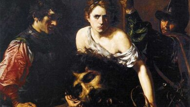 """""""David with the Head of Goliath,"""" circa 1615–16 by Valentin de Boulogne (French, Coulommiers-en-Brie 1591–1632 Rome) Museo Thyssen-Bornemisza, Madrid."""