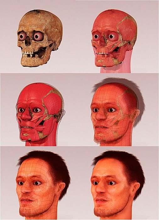 Reconstruction faciale médico-légale de l'ALberto di Trento par l'équipe Arc-Team et Cicero Moraes. (Cicero Moraes / CC BY-SA 4.0)