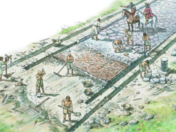 Les esclaves romains construisaient et réparaient les routes