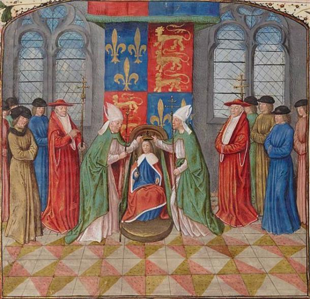 Le roi Henri VI d'Angleterre, était le fils unique de Catherine de Valois et d'Henri V. Il a été couronné roi de France en 1431 à l'âge de 10 ans seulement. (Domaine public)