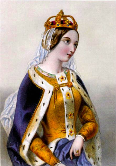 Gravure de Catherine de Valois publiée dans le livre de 1875