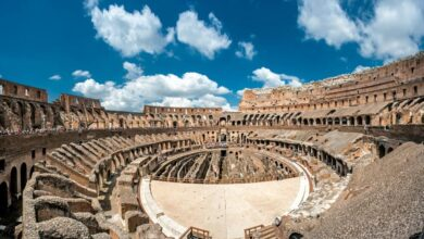 Was sophisticated Roman technology used in construction of the Roman Colosseum?