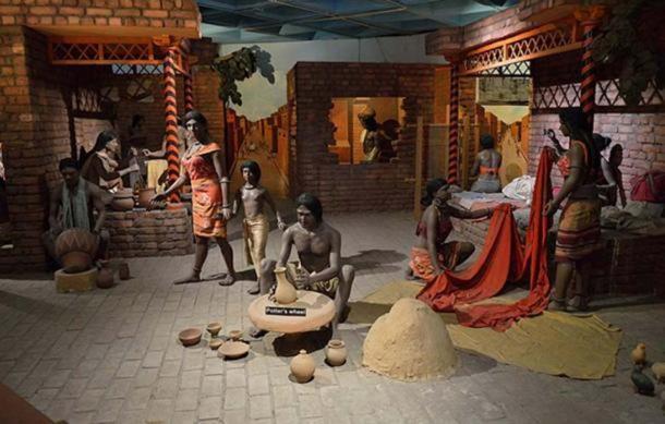Diorama de la vie quotidienne dans la civilisation de la vallée de l'Indus. (Centre national des sciences, Delhi, Inde) (Biswarup Ganguly/ CC BY 3.0 )
