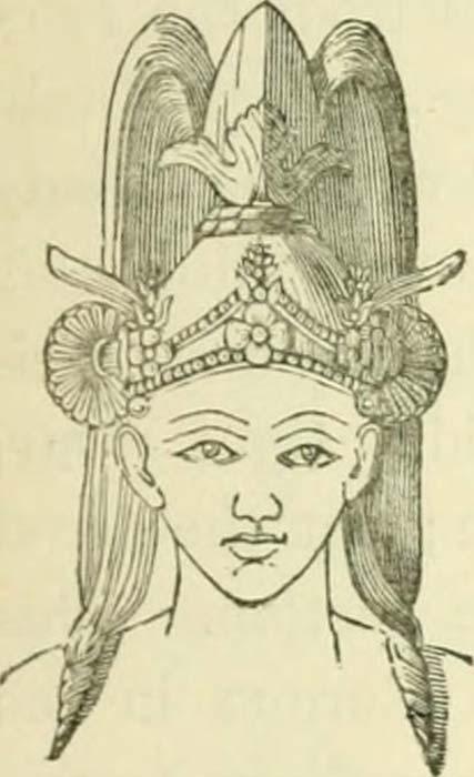 Illustration dont on dit qu'elle représente un Indo-Aryen. (Pas de droit d'auteur connu)