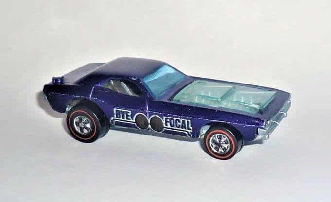 Les roues les plus chères - Bye-Focal violet Spectraflame 1971