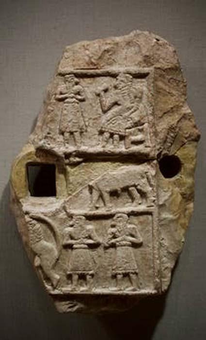 Relief du temple d'Inanna. (Domaine public)