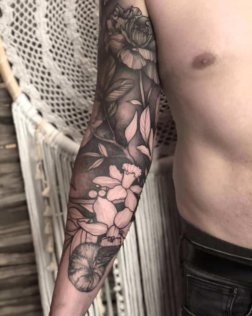 Tatouage de fleurs pour hommes junotattoos