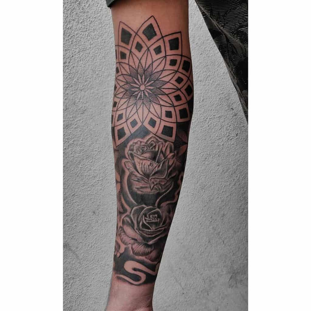 Mandala Flower Tattoo Sleeve inkadeliktattoos