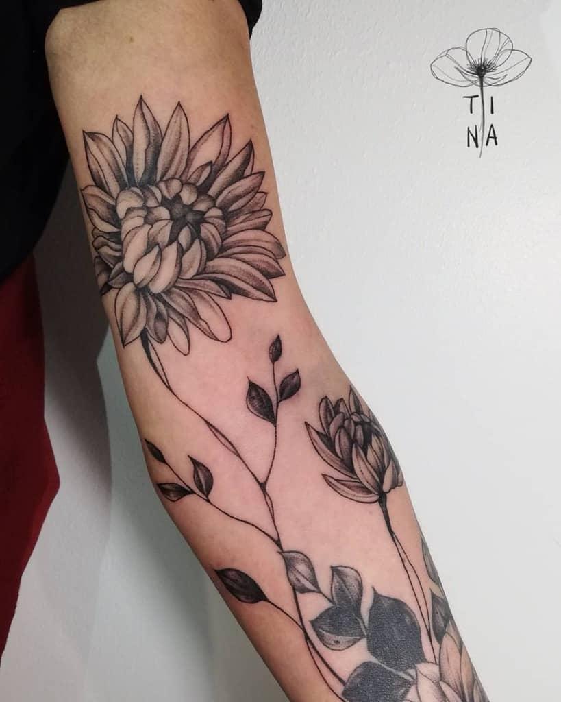 Tatouage de fleurs en ligne Manche martina_perlo