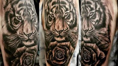 Top 61 Best Tiger Rose Tattoo Ideas – [2020 Inspiration Guide]