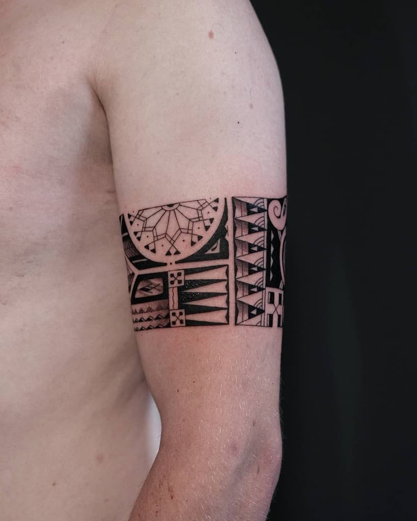 Petits tatouages tribaux polynésiens kokin_tattoo
