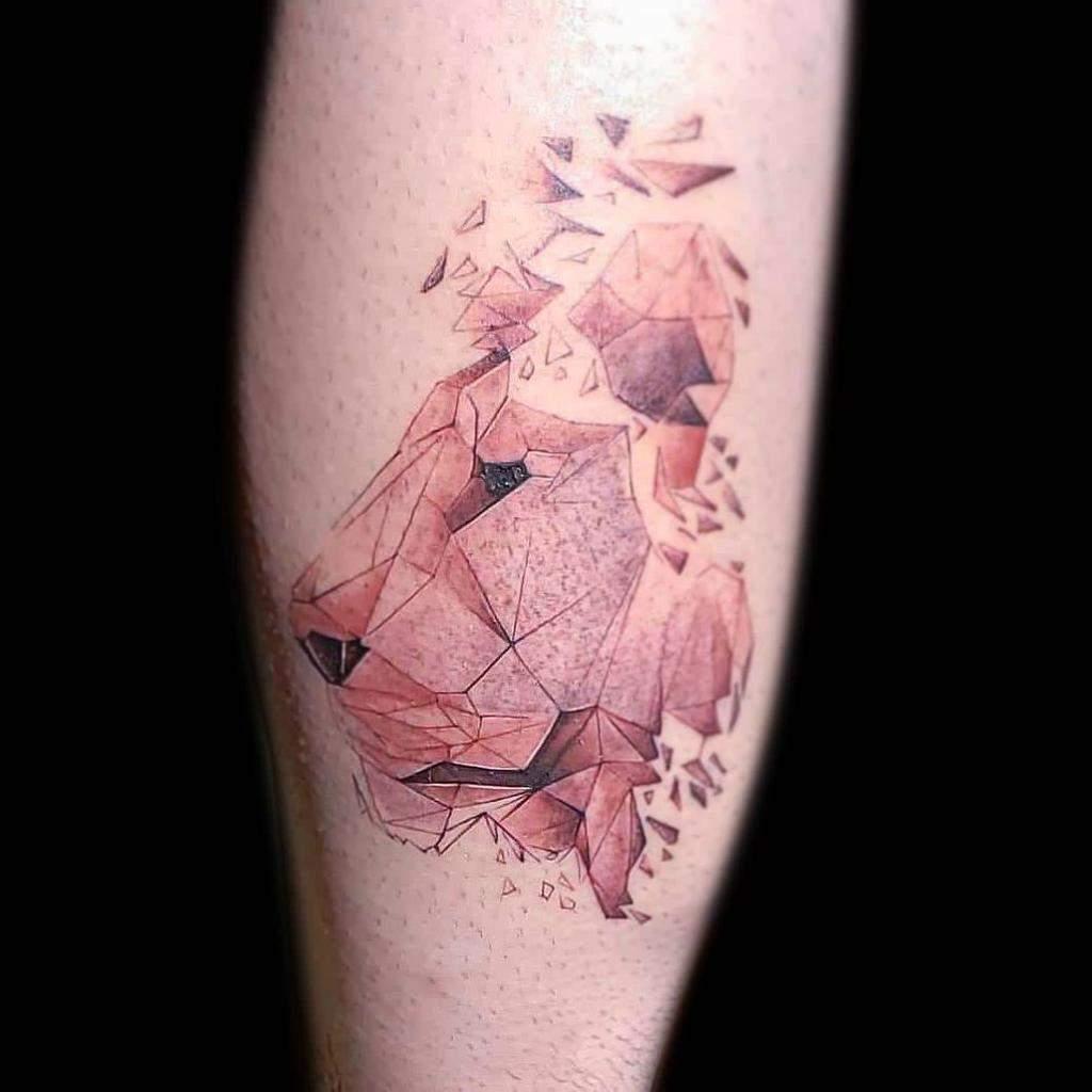 Tatouages de la petite patte de lion artguin