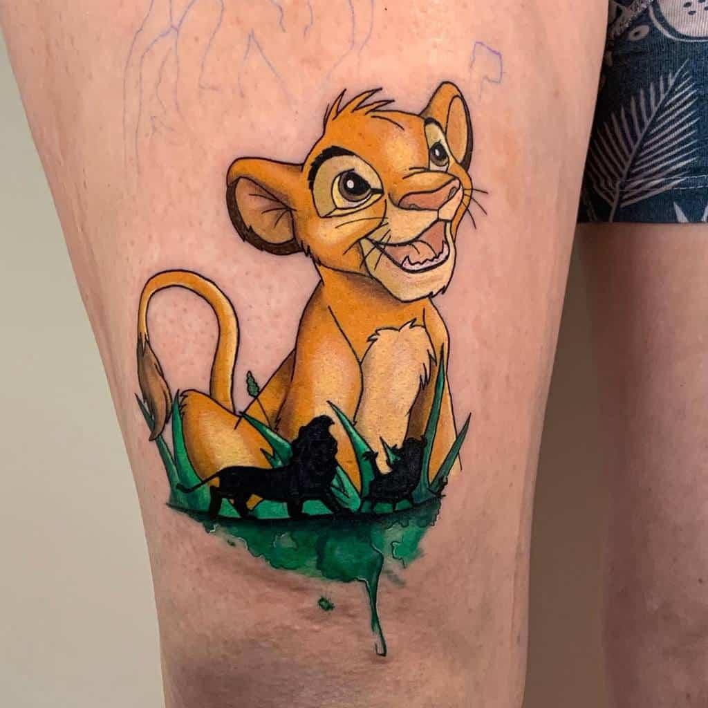 Tatouages du petit roi lion sherilyn_ink