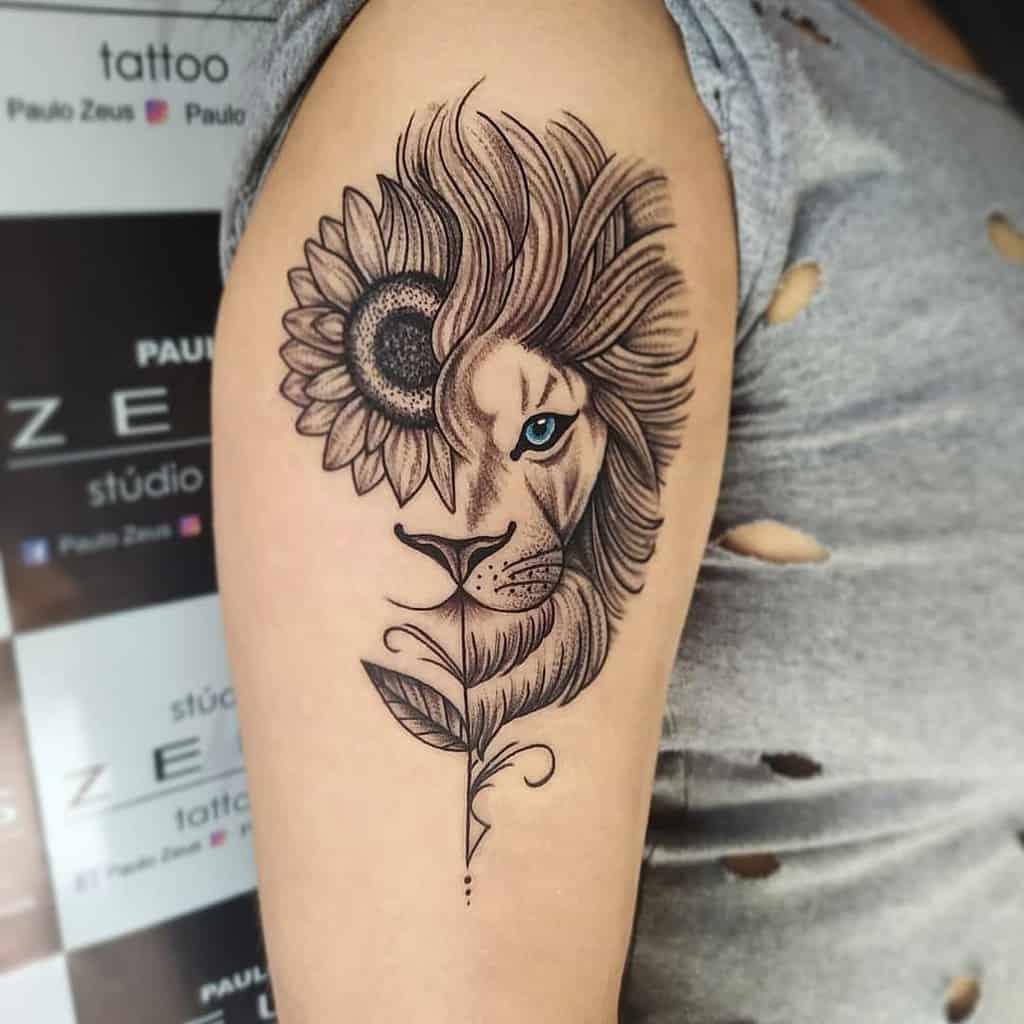 Tatouages d'épaules de petits lions paulo_zeus7