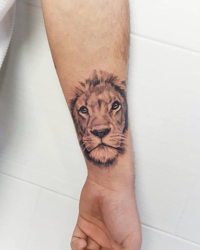 Tatouages de poignets de petits lions 785tattoo
