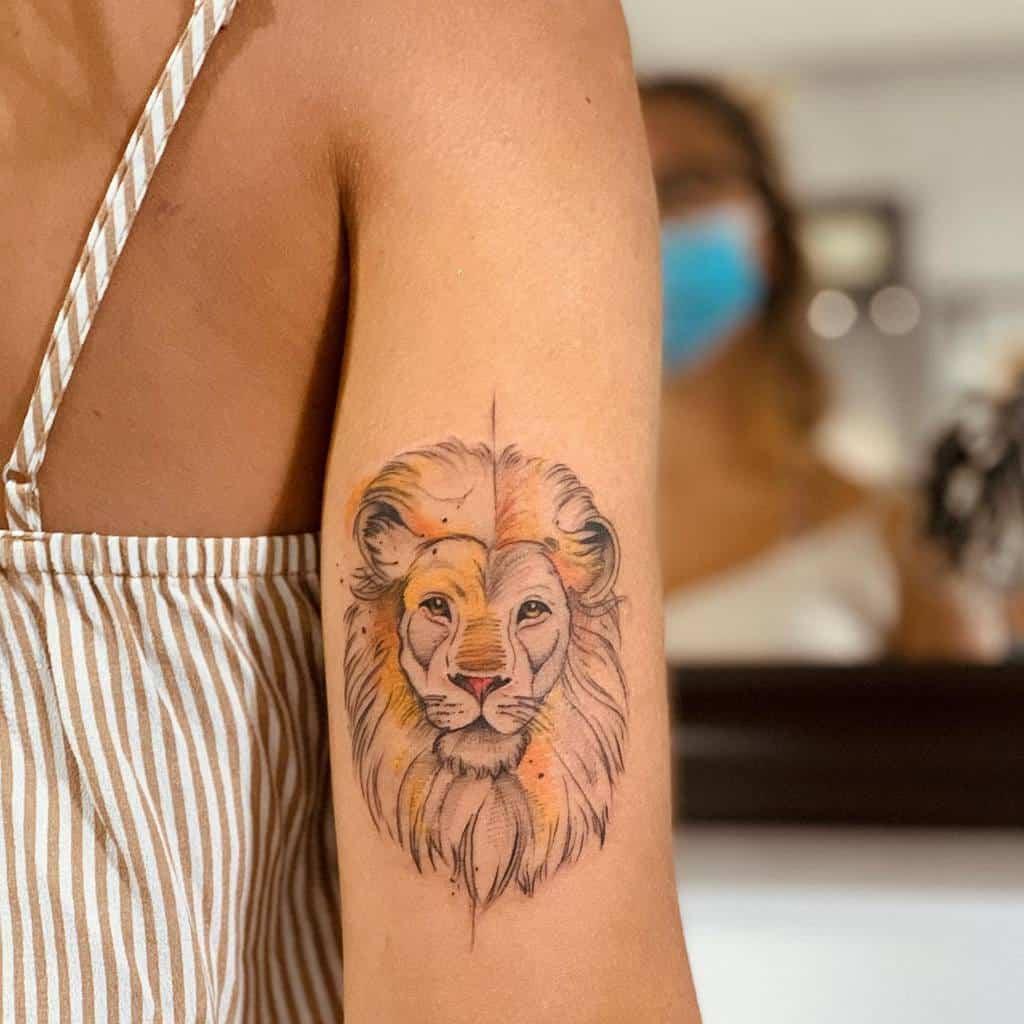 Petits tatouages de bras de lion giovanni_andolina