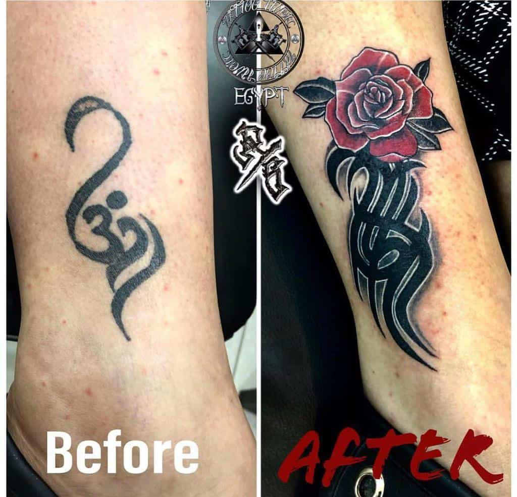 dissimuler les tatouages de roses tribales twontattoo