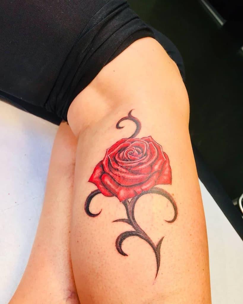 Tatouages tribals à l'aquarelle de roses heiderthomas