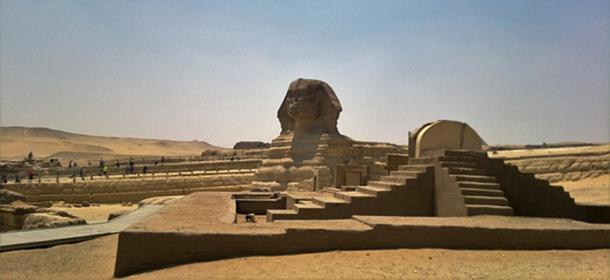 Le Grand Sphinx de Gizeh sur le plateau de Gizeh. (VEGANESTON/CC PAR SA 4.0)
