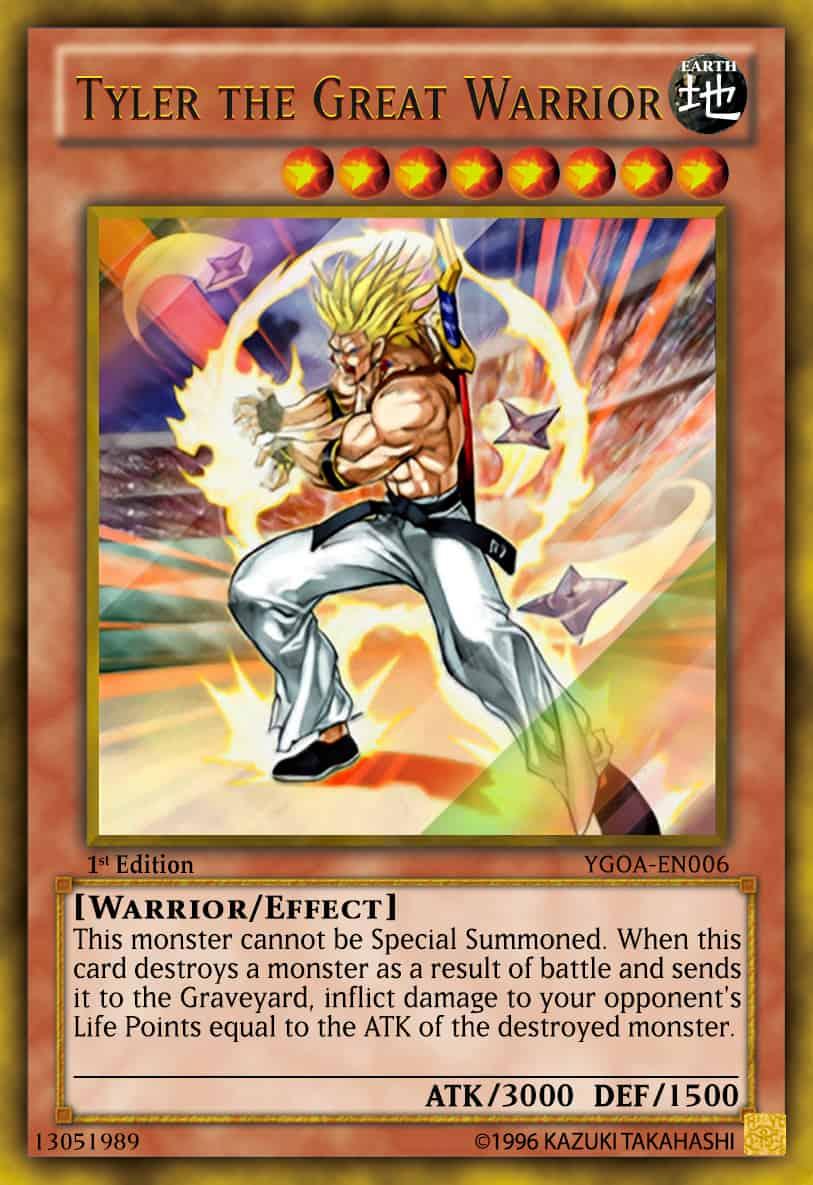 Les cartes Yu Gi Oh ! les plus chères - Tyler Le Grand Guerrier