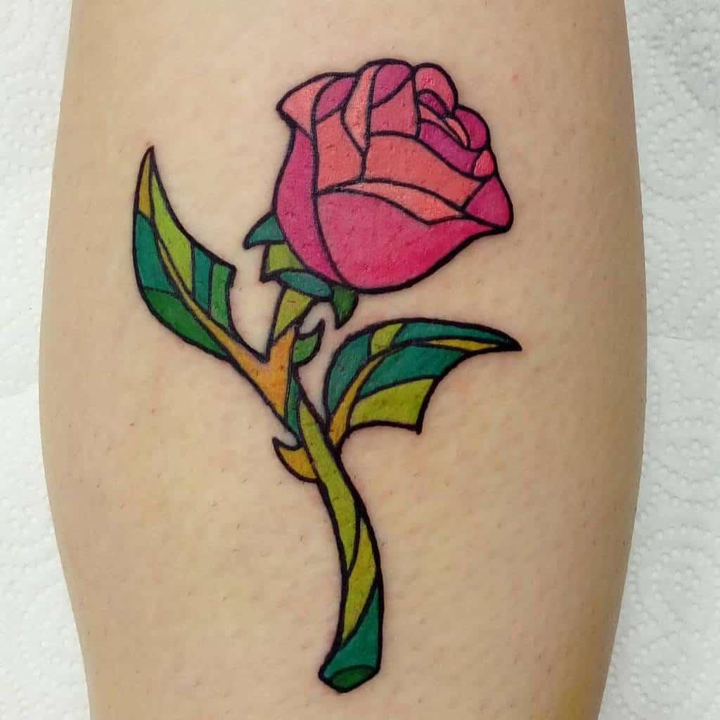 beauté simple et la rose des bêtes tatouages hobson_tattoo