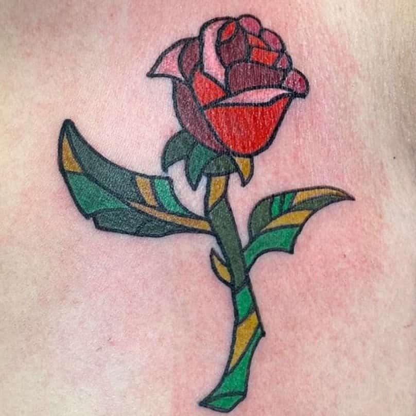 beauté simple et la bête rose tatouages ketobionicwoman