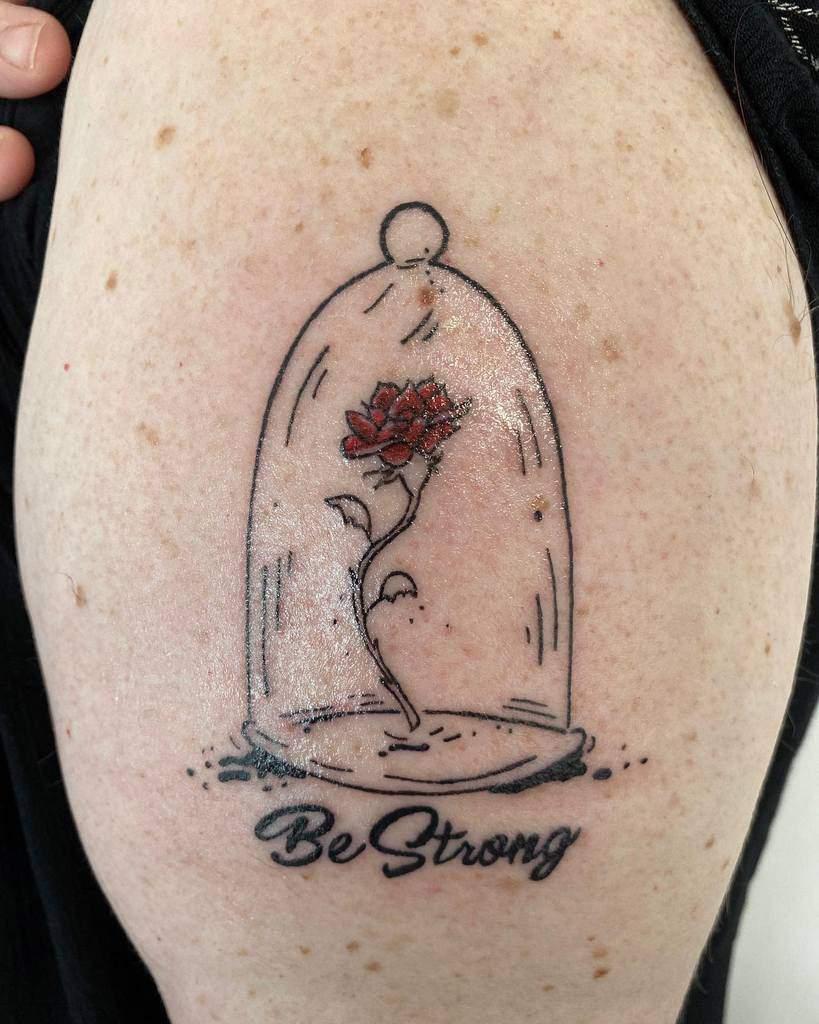 la beauté simple et la rose des bêtes tatoue the_cleanink