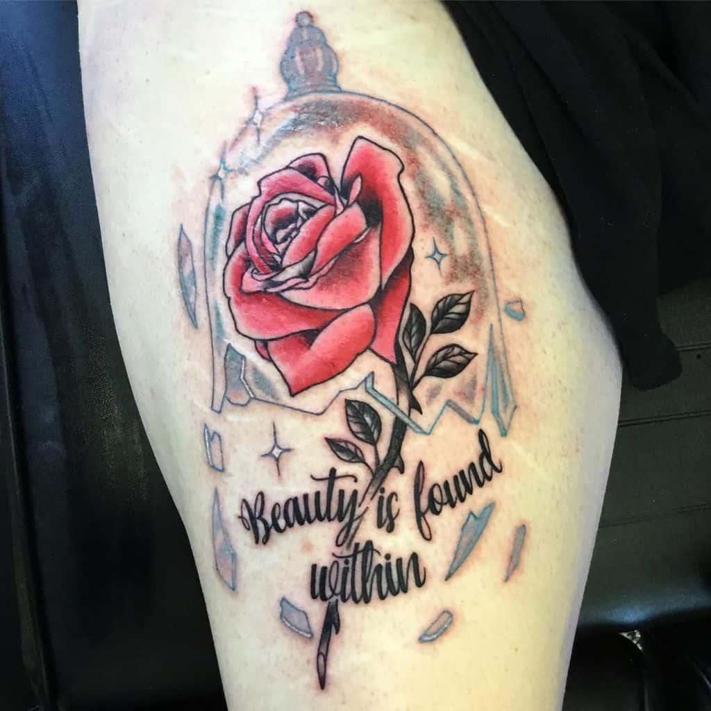 la beauté des cuisses et la rose des bêtes tatouages mattfalconertattoo