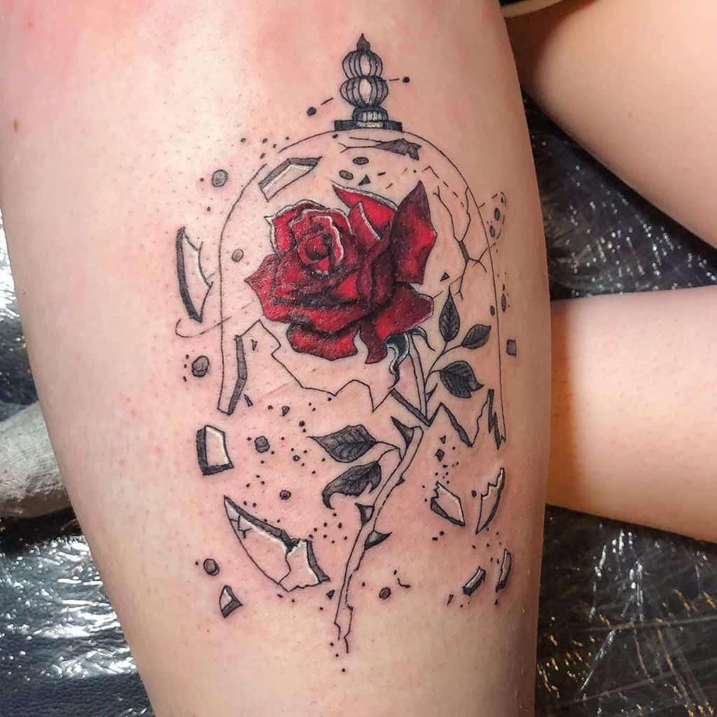 la beauté des cuisses et la bête rose tatouages rogue_ink_tattoo