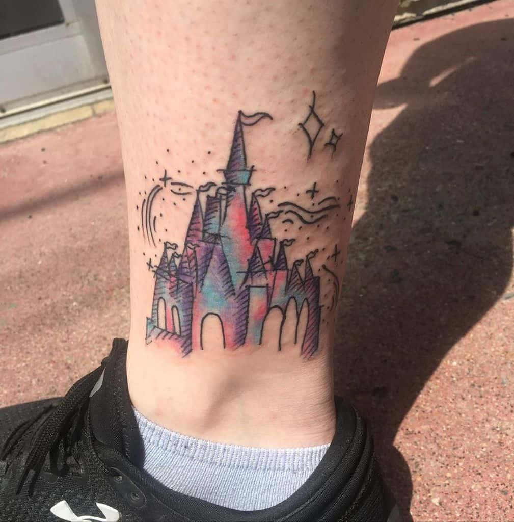 Petit château Disney Tatouages alexanne.sortilege