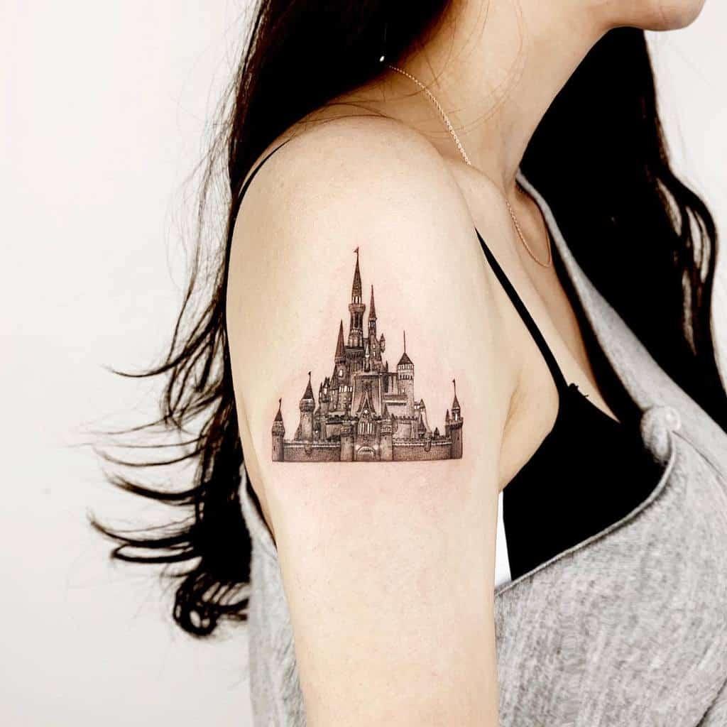 Tatouages du petit château Disney rudo_tattoo